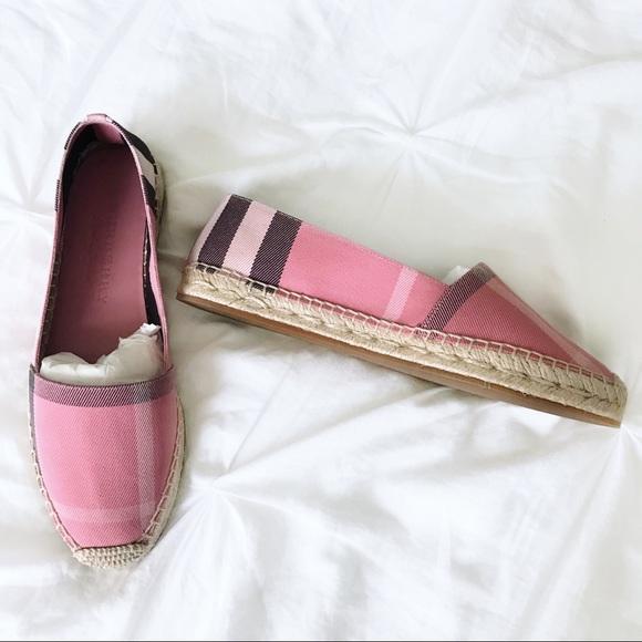 burberry espadrilles pink